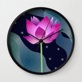 Star Lotus Wall Clock