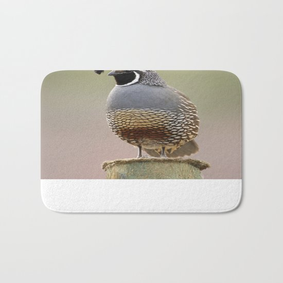 California Quail Bath Mat