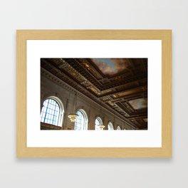 library ceiling Framed Art Print
