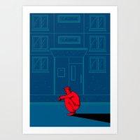 the neighbourhood Art Prints featuring Neighbourhood by NINETYONESIXTEEN