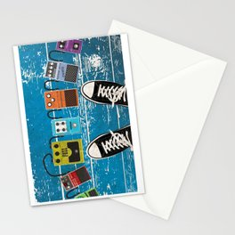 Guitar Music Effect Pedals Stationery Cards