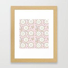 Dish Pattern Framed Art Print