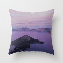Crater Lake Sunset Throw Pillow