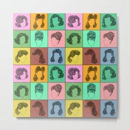 50 hairstyles Metal Print
