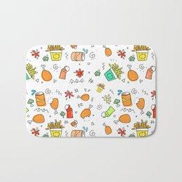 Fast Food Pattern Bath Mat