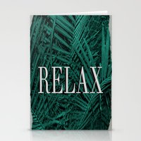 relax Stationery Cards featuring RELAX by sincerelykarissa