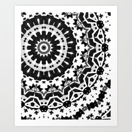 Trouble in the city 4 Black & White Art Print