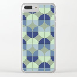 Mid Century Geometric 2 Clear iPhone Case