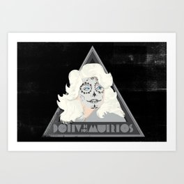 Dolly de los Muertos Art Print