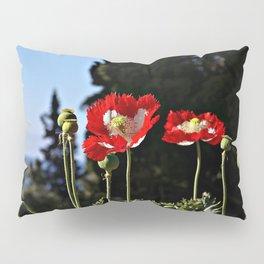Summer red poppies flowers Pillow Sham