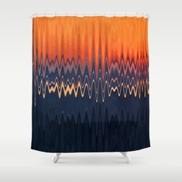 Sunset in Waves Shower Curtain