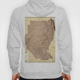 Map Of Sudan 1963 Hoody