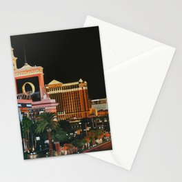 Las Vegas Strip Oil On Canvas Stationery Cards