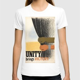 Unity Brings Victory - WWII Propaganda Poster T-shirt
