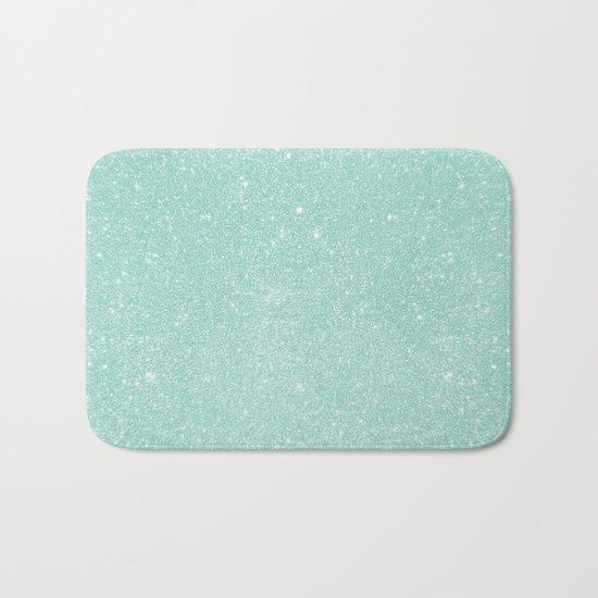 Pastel Turquoise Glitter Bath Mat