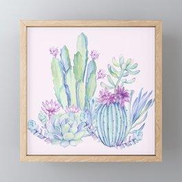 Mixed Cacti Pink #society6 #buyart Framed Mini Art Print