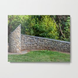 Shaped Rock Wall Feature Metal Print