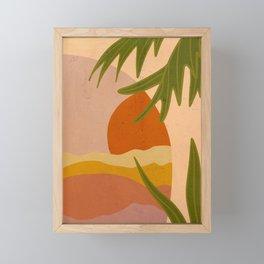 Terracotta Sunset Framed Mini Art Print