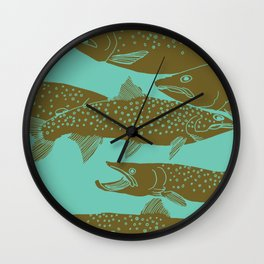Bull Trout Underwater Wall Clock