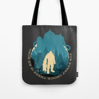 bioshock Tote Bags featuring Bioshock 2 by Bill Pyle