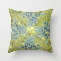 olivia joy Throw Pillows featuring Olivia by Lisa Argyropoulos