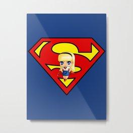 Chibi Supergirl Metal Print