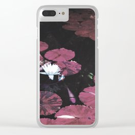 Red Pond Clear iPhone Case