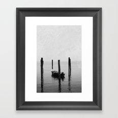 Boat on the lake Framed Art Print