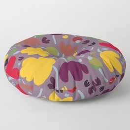 Falling Leaves in Autumn Floor Pillow