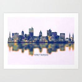 Fort Wayne Skyline Art Print