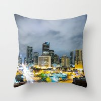 denver Throw Pillows featuring Denver by Kodablck
