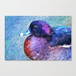 Fat Duck Portrait Painting Canvas Print