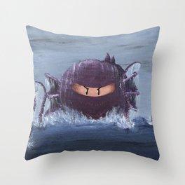 Ninja Octopus Throw Pillow