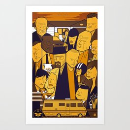 Breaking Bad (yellow version) Art Print