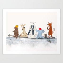 little big surfboard Art Print
