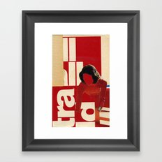 Red in the face Framed Art Print