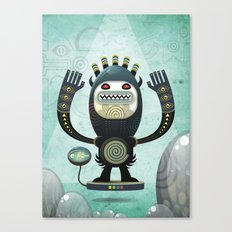 Alien Guard Canvas Print