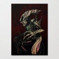 xenomorph Canvas Prints featuring Alien (xenomorph) by Woorinara Kim