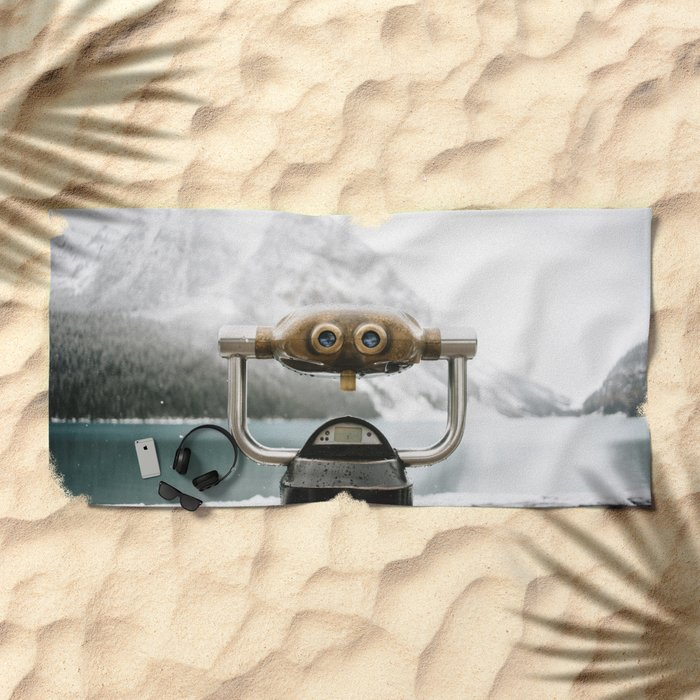 Lake Louise #landscape #society6 Beach Towel