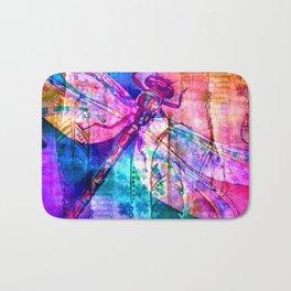 Dragonfly Rainbow Bath Mat