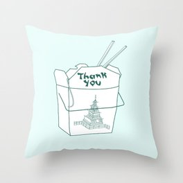 TAKEOUT Throw Pillow
