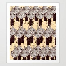 Onions pattern Art Print