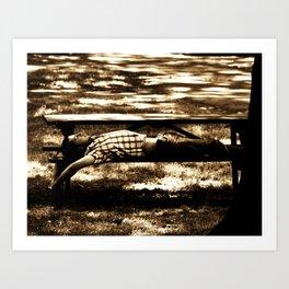 Bench Stretch Dreams Art Print