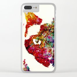"""""""I Can't Look At The Stars"""" Siamese Cat Clear iPhone Case"""