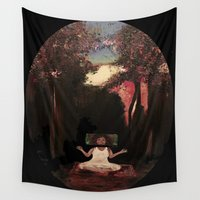 meditation Wall Tapestries featuring Meditation by Alex Victoria