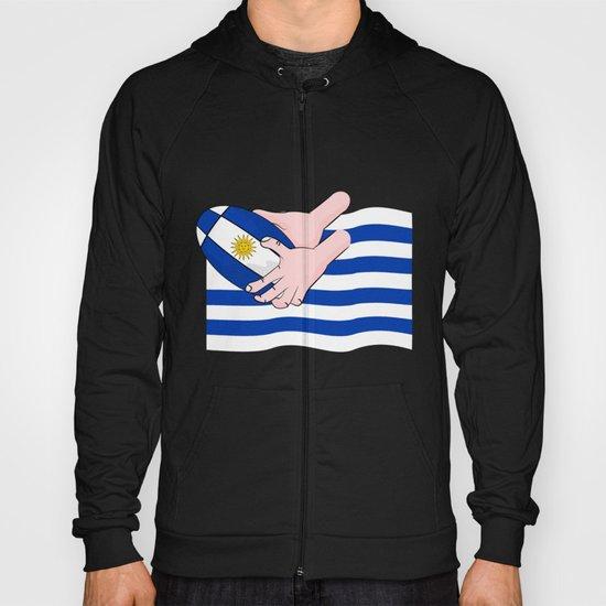 Uruguay Rugby Flag Hoody