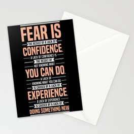 Lab No. 4 Fear Is The Result Dale Carnegie Inspirational Quotes Stationery Cards