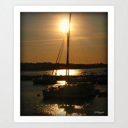 Seeping Sun Art Print