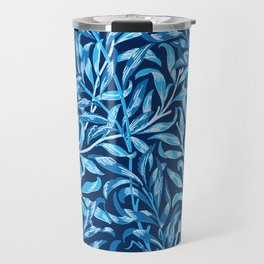 William Morris Willow Bough, Cobalt and Navy Blue Travel Mug