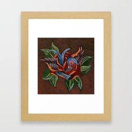 Sparrow Rose One Remix Framed Art Print